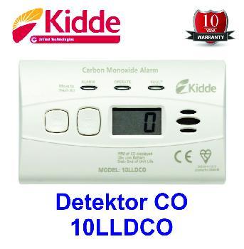 DETEKTOR OGLJIKOVEGA MONOKSIDA KIDDE 10LLDCO (vgrajena litijeva baterija, LCD zaslon)