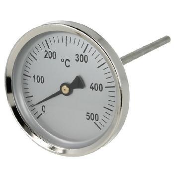 Bimetalni Termometer za Dimne Pline, 0-500°C